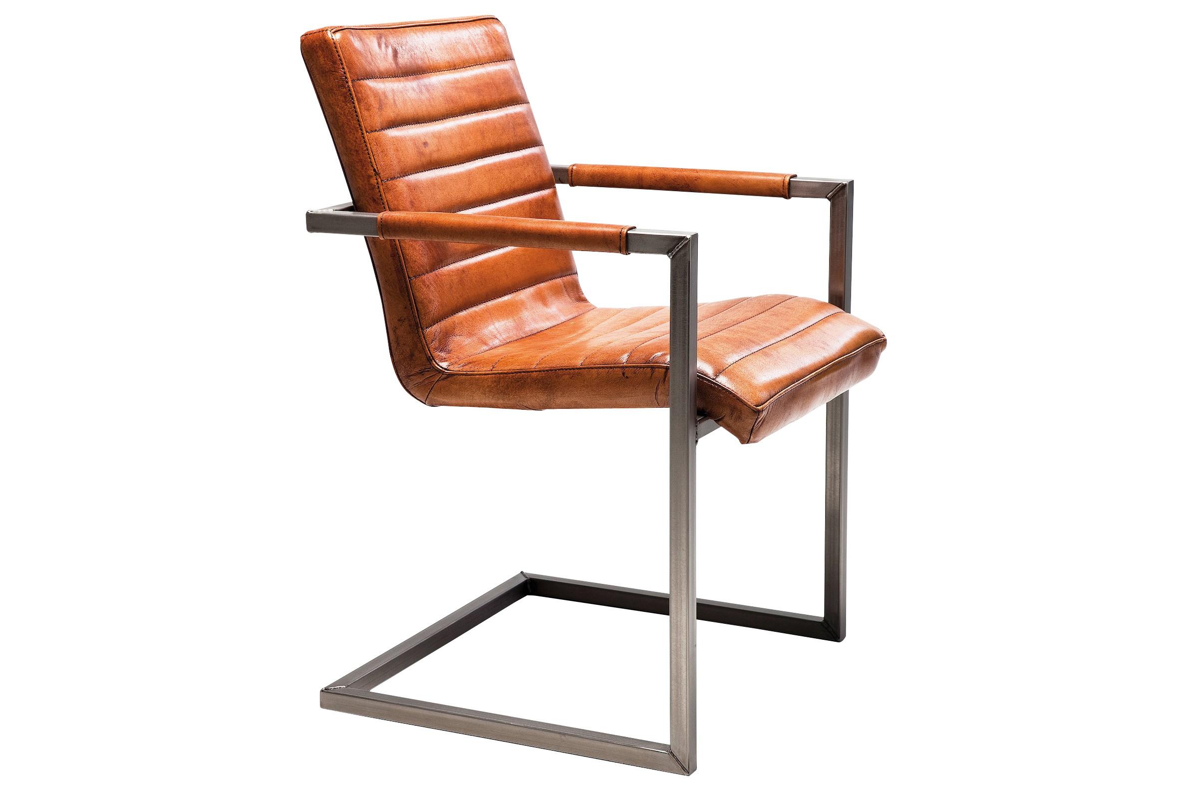 freischwinger riffle leder braun. Black Bedroom Furniture Sets. Home Design Ideas