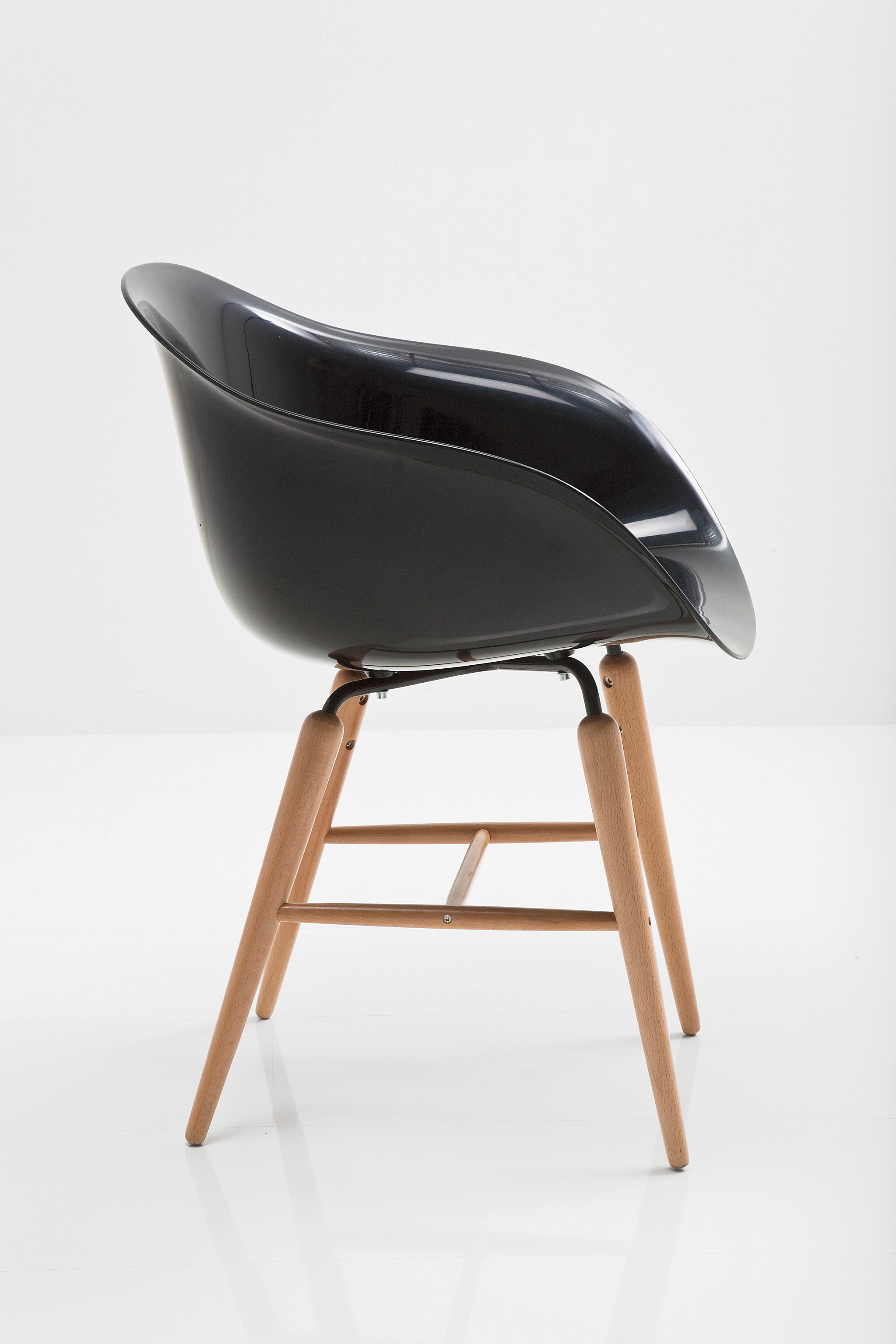 Stuhl forum wood schwarz by kare design ebay for Stuhl kare design