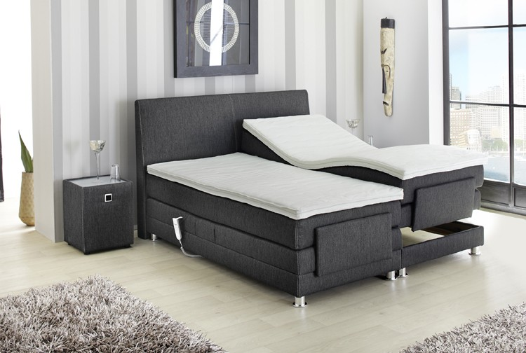 boxspringbett raffinetto 180x200 cm schwarz. Black Bedroom Furniture Sets. Home Design Ideas