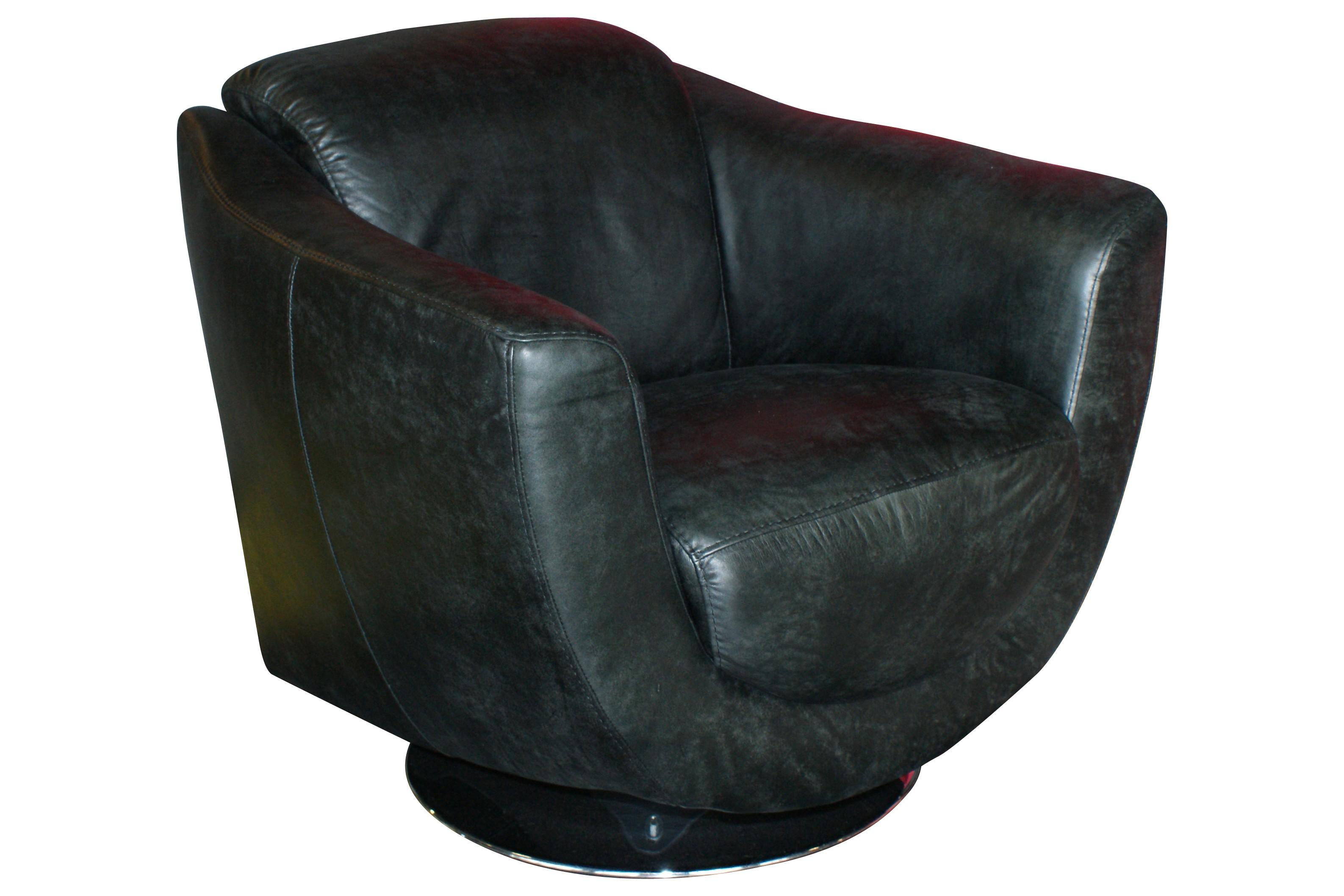 drehsessel clara leder schwarz. Black Bedroom Furniture Sets. Home Design Ideas