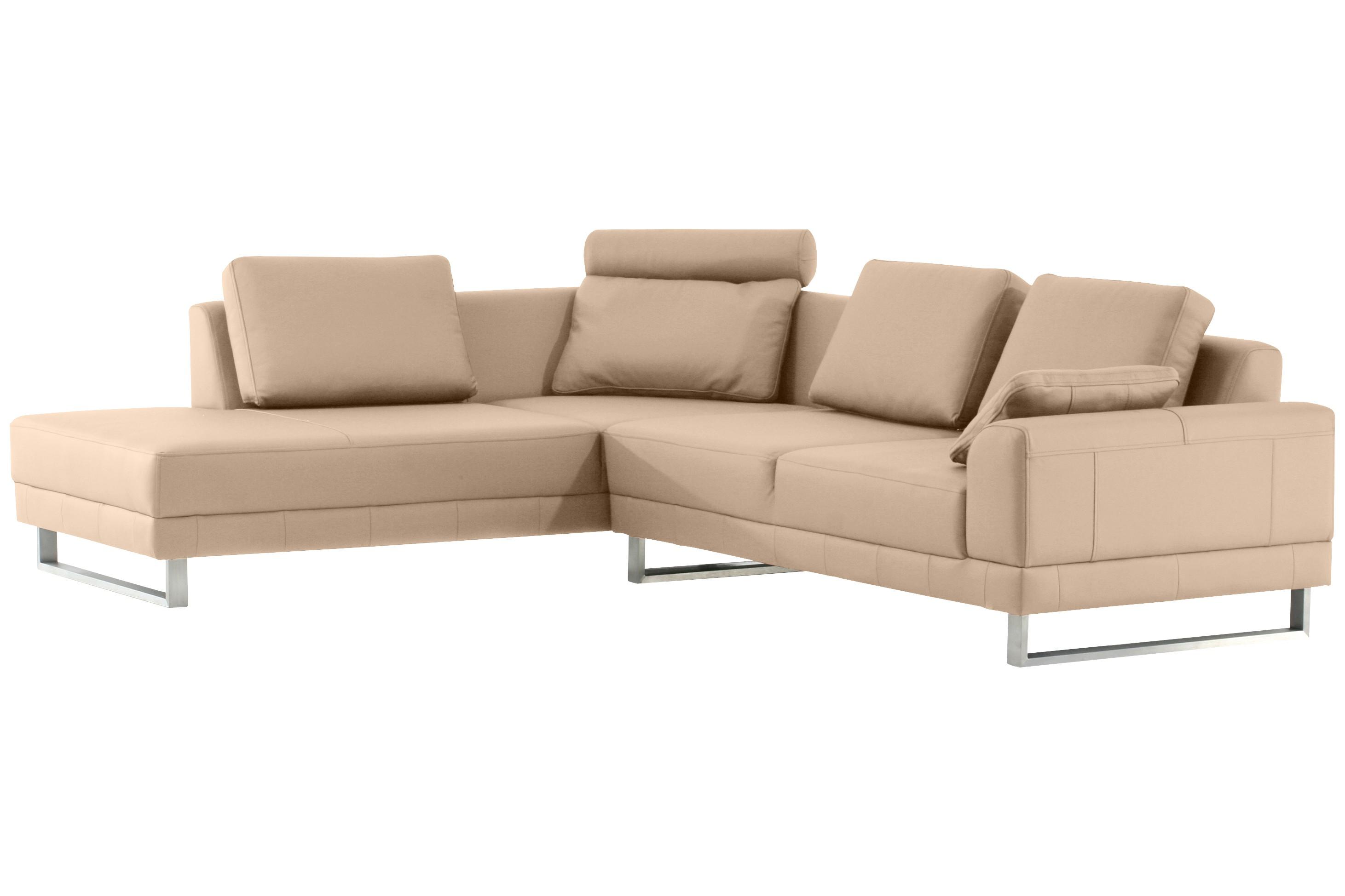 ecksofa siena leder creme. Black Bedroom Furniture Sets. Home Design Ideas