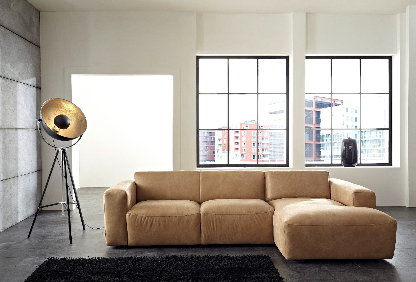 ledersofa pure lc. Black Bedroom Furniture Sets. Home Design Ideas