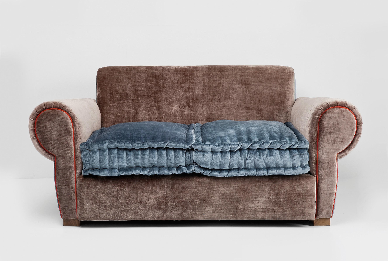 Pin Kare Design Sofa 3 Sitzer Oxford Braun Echtleder Chesterfield on