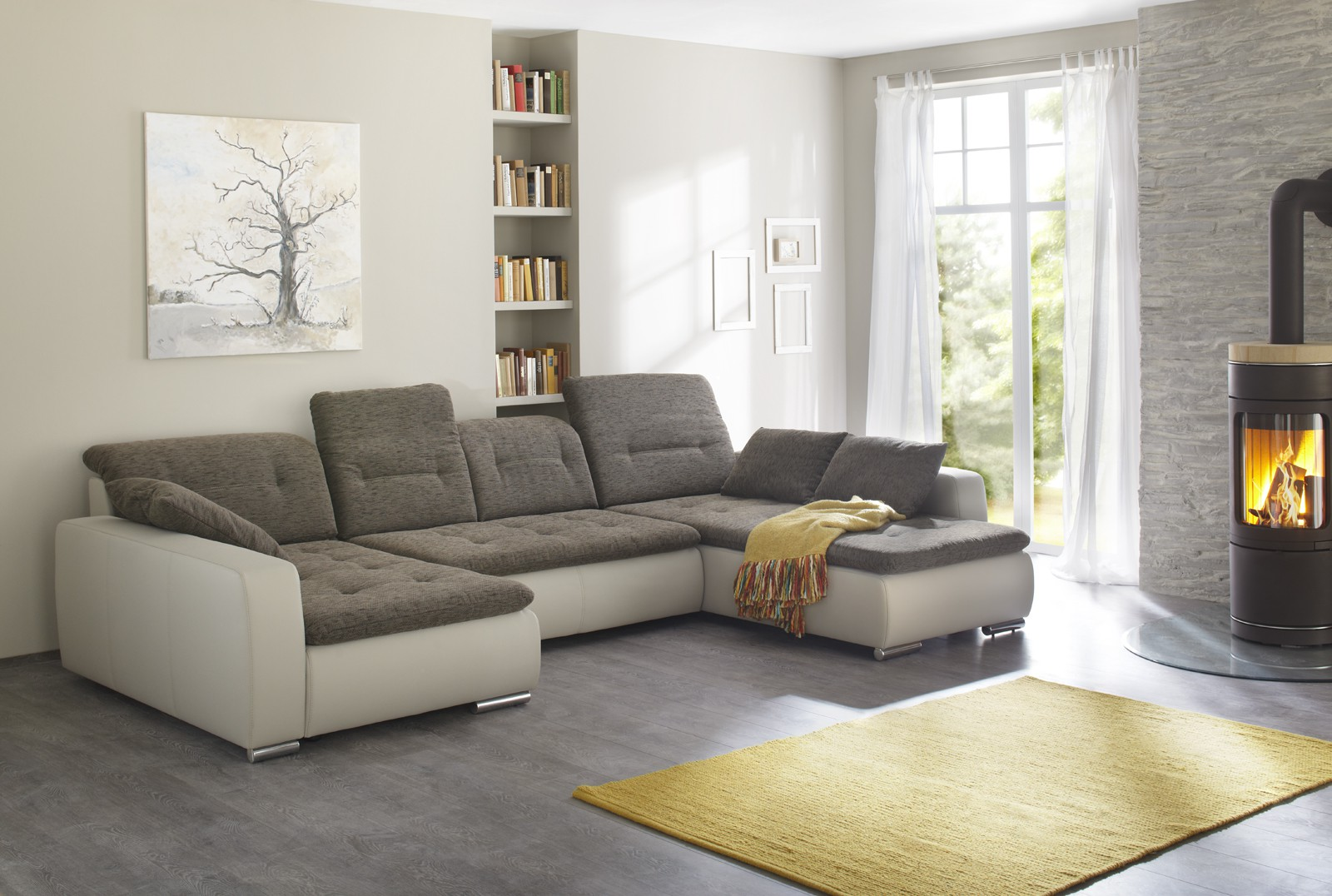 Ecksofa u form beige for Sofa lagerverkauf