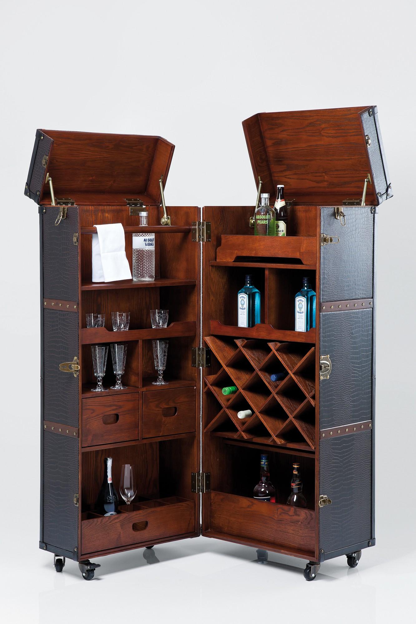 schrank bar colonial braun. Black Bedroom Furniture Sets. Home Design Ideas