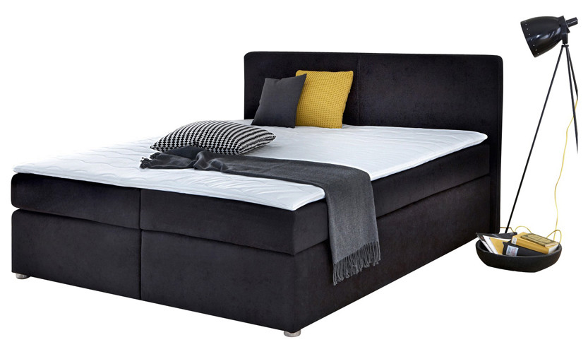 boxspringbetten hotelfeeling zu hause. Black Bedroom Furniture Sets. Home Design Ideas